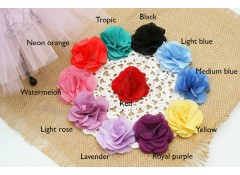 "Chiffon Flower ""BLOOM"" Type 2 (Small) - 5 cm Pack of 3"