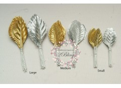 Leaves on wire (V2) 4cm (Medium) - Pack of 5