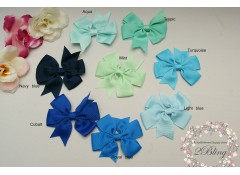 "Grosgrain ribbon ""Pinwheel Bow"", 8cm, Pack of 2"