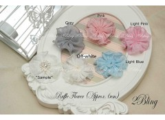 Ruffle Flower (No center), 6cm, 1 pc