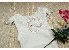 Plain baby singlet, with MOTIF-1 sleeve (000, 00)