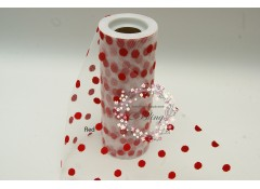 Polkadot Nylon Tulle roll - 6 inch x 10 yards