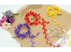 Leaf garland trim (Color) - 1 meter
