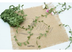Leaf garland trim (Green) - 1 meter
