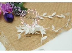 Leaf garland trim (White with yellow tinged) - 97 cm length (Pre-cut)