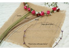 Floral wire PLAIN (50cm) - DIY Halo -  Pack of 5