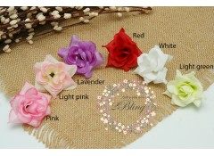 Silk artificial flower, Medium (6 cm), Pack of 5