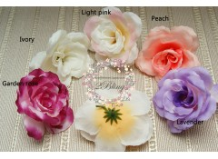 Silk artificial flower, Large (8 cm), Pack of 5