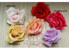 "Silk artificial flower, ""Just Rose"" (8-9 cm), Pack of 5"