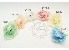 "Silk artificial flower, ""Rosette-3"" (4 cm), Pack of 5"