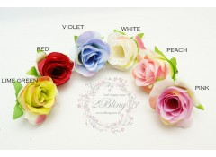 "Silk artificial flower, ""Rosette-2"" (3.5 cm), Pack of 5"