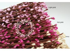 "Floral wire with ""Textured""  Pips Berry Stem (40cm) DIY Floral crown"