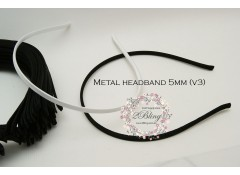 Satin Headband (Type 3), Metal  - 5mm