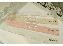Premade Lace Headband, 38cm, NB/ Toddler Pack of 3