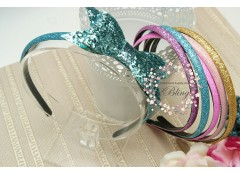 Glitter Headband, Plastic, 8mm