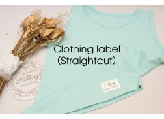 Straightcut Satin label, custom print, personalised clothing label, Pack of 25
