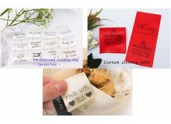 100 Centerfold 38mm Clothing Satin care label, custom print, personalised clothing label tag