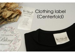 Centerfold Satin label, custom print, personalised clothing label, Pack of 25