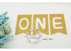 Iron-on transfer, Glitter, WORD One, v8,  15x7.8 cm