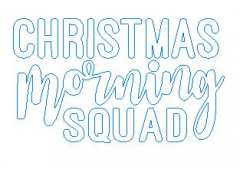 Iron-on transfer, Christmas Glitter, Christmas morning squad