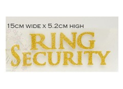 Iron on transfer,  WEDDING, RING SECURITY
