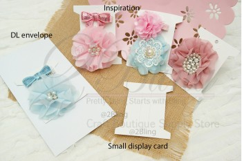 Packaging, Hair-clips Display CARDS (Small) - 10x8 cm - Pack of 25