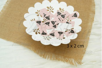 "Packaging, SWING TAGS ""Mannequin"" 3x2 cm - Pack of 25"