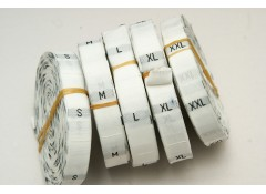 Label Tag,  Woven (S_XXL) SIZE, Small, Pack of 50