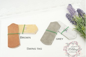 "Packaging, SWING TAGS ""Medium size"" - 9x3.5 cm cm - Pack of 25"