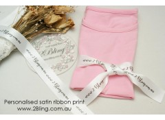 Personalised satin ribbon custom  print, packaging, 1.5inch (38mm) wide, 4 meters