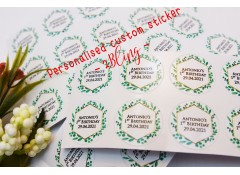 25mm Personalised Circle Sticker (pack of 35 circles)