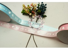 BABY RIBBON, Singled sided 1 inch (2.4 cm wide), 2 meters length