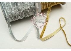 Glitter RIBBON, 3/8 inch (1cm wide), 2 meters length