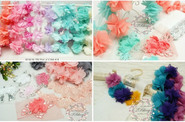 CHIFFON/ SEQUIN TRIMS