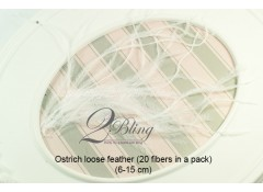 Loose Feather, OSTRICH LOOSE feather (Pack of 20)