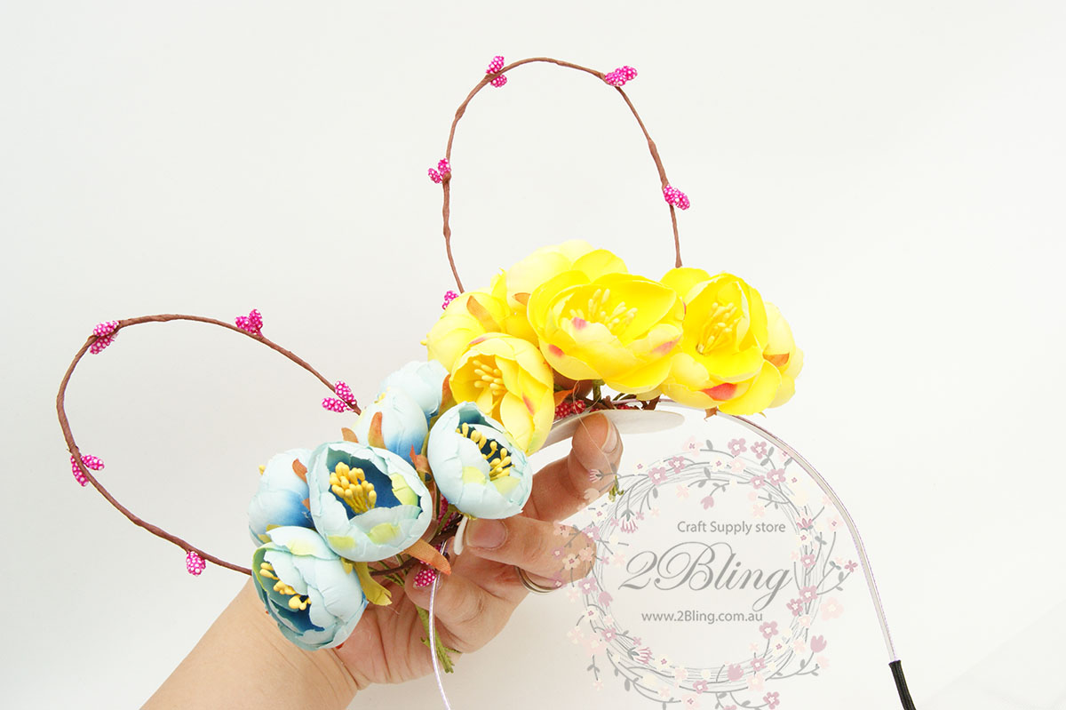 Bunny ear tutorial flower crown izmirmasajfo